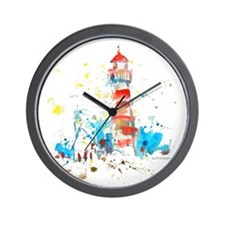 2-lighthouseA10x10_apparel Wall Clock