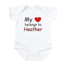 My heart belongs to heather Infant Bodysuit