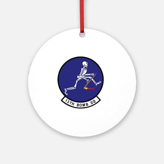 13th_bomb_sq Round Ornament