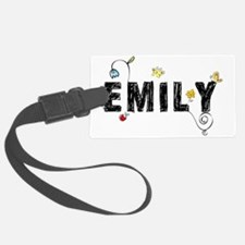 Emily Floral Luggage Tag