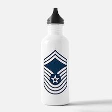 USAF-CMSgt-Old-Blue-PN Water Bottle