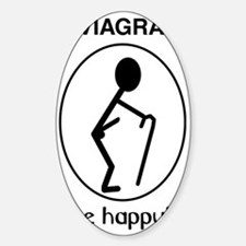 be_happy_1 Sticker (Oval)