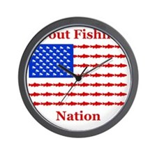 trout nation dark 2 Wall Clock