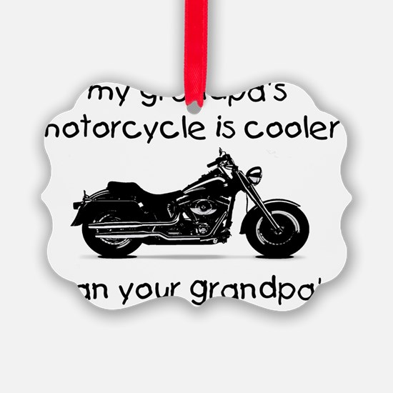 grandpas motorcycle Ornament