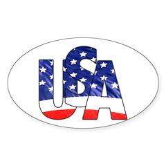 USA logo Oval Decal