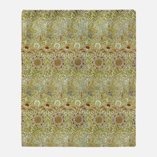William Morris Corncockle Throw Blanket