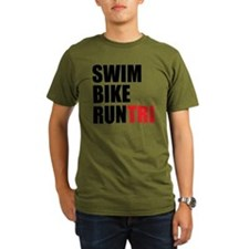 Swim-Bike-Run-Tri T-Shirt
