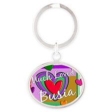 BUSIA Oval Keychain