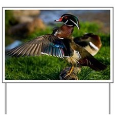 (4) Wood Duck Wing Yard Sign