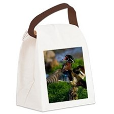 (4) Wood Duck Wing Canvas Lunch Bag