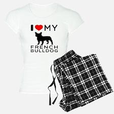 I Love My French Bulldog Pajamas