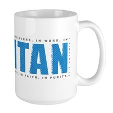 Label_Puritan_1tim4_blue_onBlack Mug