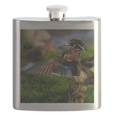 (15) Wood Duck Wing Flask
