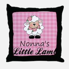 little lamb girl Throw Pillow