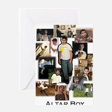 Collage - Altar Boy - by Miri Greeting Card