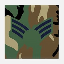 USAF-SrA-Old-Mousepad-Woodland Tile Coaster