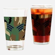 USAF-SrA-Old-Mousepad-Woodland Drinking Glass