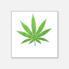 "pot leaf -dk Square Sticker 3"" x 3"""