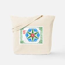 1987 Bulgaria Holiday Snowflake Postage Stamp Tote