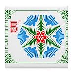 1987 Bulgaria Holiday Snowflake Postage Stamp Tile