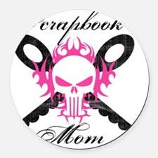 skullmom Round Car Magnet