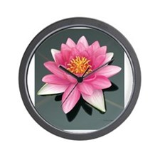 waterlily_tile2 Wall Clock