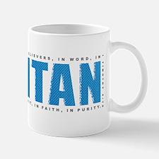 Puritan1tim4_blue-onBlk Small Small Mug