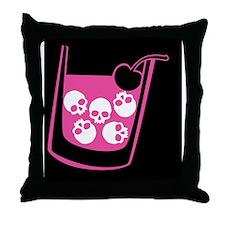 skull-manhattan-pink_12x18 Throw Pillow