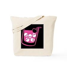 skull-manhattan-pink_12x18 Tote Bag