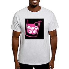 skull-manhattan-pink_12x18 T-Shirt