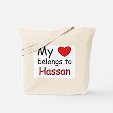 My heart belongs to hassan Tote Bag