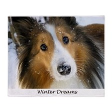 Winter Dreams Throw Blanket