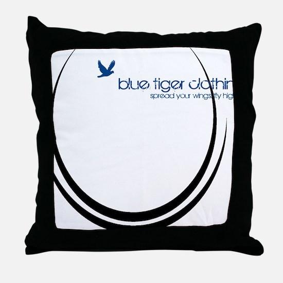 peace_rings_black Throw Pillow