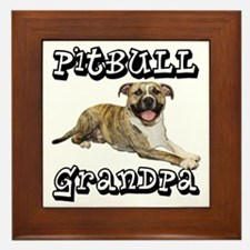 PitBullGrandpa_Tigger Framed Tile