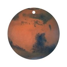 Mars Planet Christmas Tree Ornament (Round)
