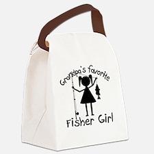grandpas favorite fisher girl 4 w Canvas Lunch Bag