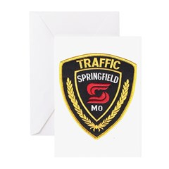 Springfield Traffic Police Greeting Cards (Package