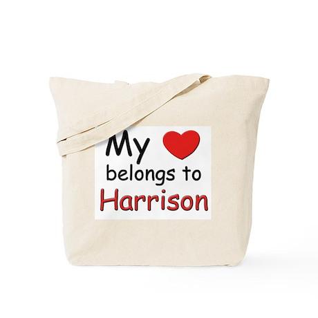 My heart belongs to harrison Tote Bag