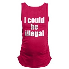 icouldbeillegalclear Maternity Tank Top