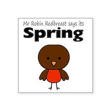 """robin Square Sticker 3"""" x 3"""""""