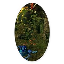 Poison Dart Frog Groave Oval Decal