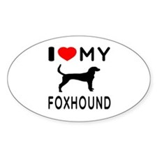 I Love My Foxhound Decal