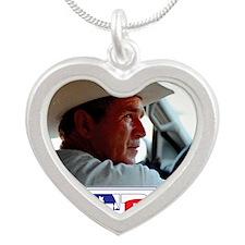 BushAMERICA Silver Heart Necklace