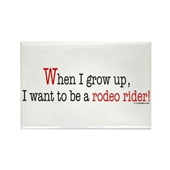 ... a rodeo rider Rectangle Magnet (100 pack)