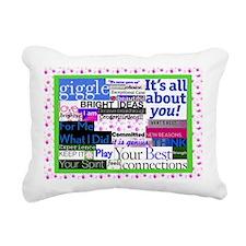 congrats14x10lgprint Rectangular Canvas Pillow