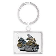Goldwing Champagne Bike Landscape Keychain