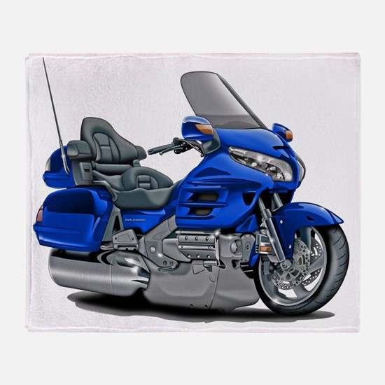 Goldwing Blue Bike Throw Blanket