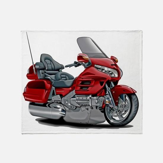 Goldwing Red Bike Throw Blanket