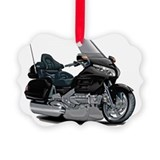 Gold wing motorcycle christmas Picture Frame Ornaments