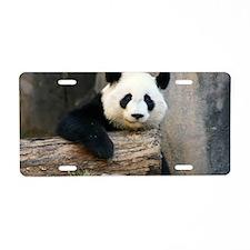 panda3 Aluminum License Plate